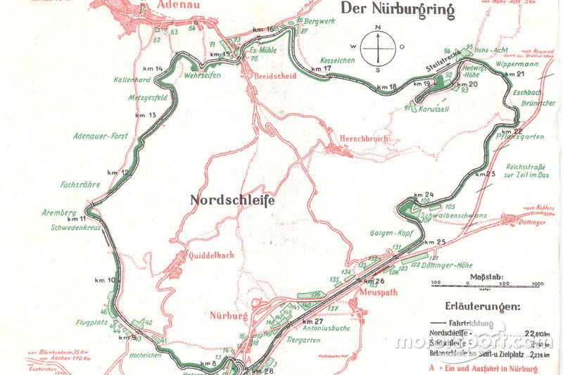 Karte Des Nurburgrings Aus Dem Jahr 1936 Bei 90 Jahre Nurburgring