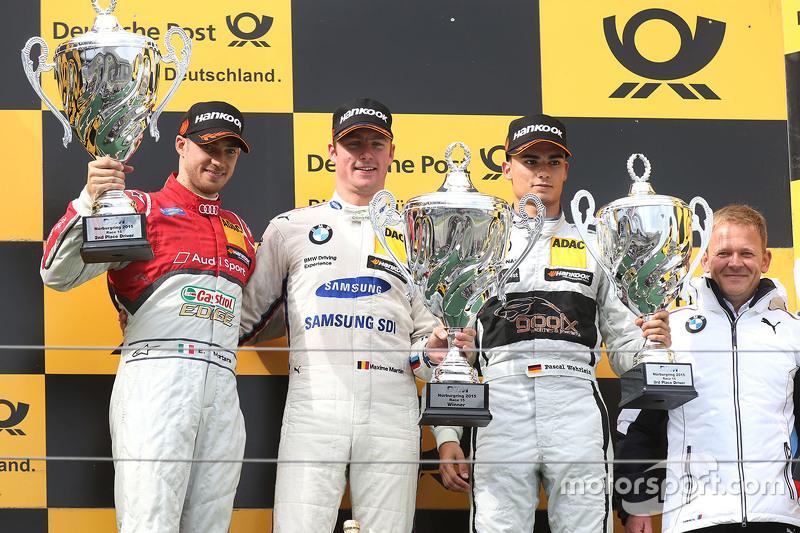 Podium: winner Maxime Martin, BMW Team RMG, second place Edoardo Mortara, Audi Sport Team Abt, third