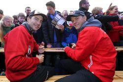 Mike Rockenfeller, Audi Sport Team Phoenix Audi RS 5 DTM and Mattias Ekström, Audi Sport Team Abt Sp