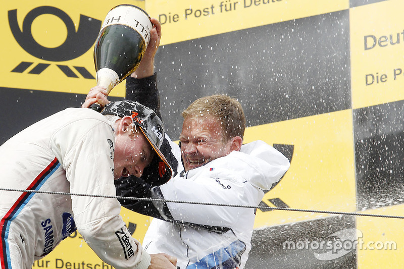 Podium: race winner Maxime Martin, BMW Team RMG, with Stefan Reinhold, BMW Team RMG