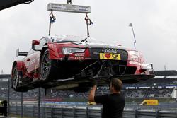 O carro de Miguel Molina, Audi Sport Team Abt Audi RS 5 DTM, após acidente