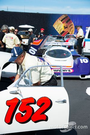 Classic Porsches on display