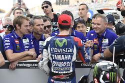 El segundo puesto clasificatorio Jorge Lorenzo, de Yamaha Factory Racing