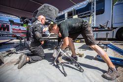 Обслуживание экипажа Алексея Лукьянюка и Алексея Арнаутова, Ford Fiesta R5