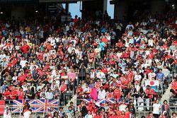 Les fans dans la tribune