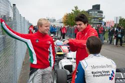 Lance Stroll, Prema Powerteam y Felix Rosenqvist, Prema Powerteam