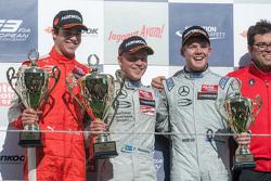 Podium: winner Felix Rosenqvist, Prema Powerteam, second place Lance Stroll, Prema Powerteam, third place Nick Cassidy, Prema Powerteam
