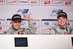 Post-race press conference: winner Felix Rosenqvist, Prema Powerteam, third place Nick Cassidy, Prema Powerteam