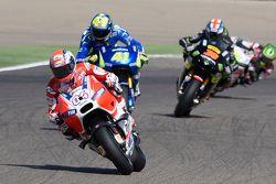 Andrea Dovizioso, Ducati Team; Aleix Espargaro, Team Suzuki MotoGP; Bradley Smith, Tech 3 Yamaha