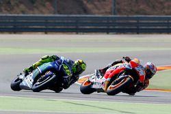 Dani Pedrosa, Repsol Honda Team y Valentino Rossi, Yamaha Factory Racing