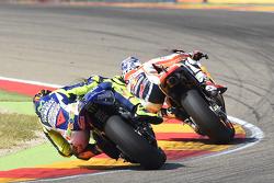 Dani Pedrosa, Repsol Honda Team e Valentino Rossi, Yamaha Factory Racing