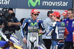 Winner Jorge Lorenzo and Third place Valentino Rossi, Yamaha Factory Racing