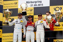 Podio: ganador Miguel Molina, Audi Sport Team Abt, segundo Paul di Resta, HWA AG Mercedes AMG, terce