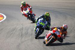 Dani Pedrosa, Repsol Honda Team, Valentino Rossi, Yamaha Factory Racing et Andrea Iannone, Ducati Team