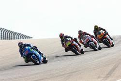 Maverick Viñales, Team Suzuki MotoGP y Alvaro Bautista, Aprilia Racing Team Gresini y Jack Miller, Team LCR Honda y Loris Baz, Forward Racing Yamaha