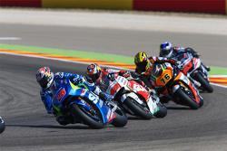 Maverick Viñales, Team Suzuki MotoGP y Jack Miller, Team LCR Honda y Loris Baz, Forward Racing Yamah