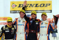 Race 3 Podium: second place Sam Tordoff, Team JCT600 with GardX and winner Colin Turkington, Team BM