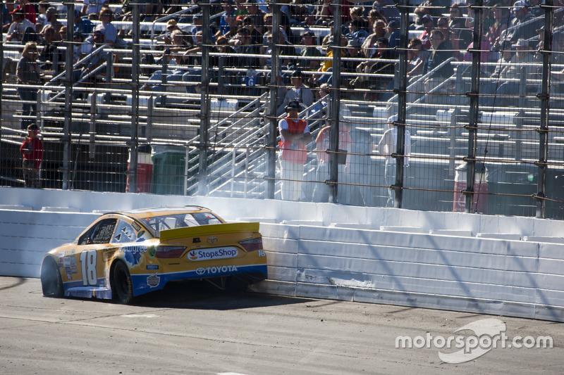 Kyle Busch, Joe Gibbs Racing Toyota crashes