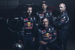 Sébastien Loeb, Cyril Despres, Carlos Sainz und Stéphane Peterhansel