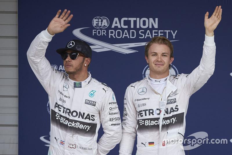 Mercedes: 10 victorias seguidas entre 2015 y 2016