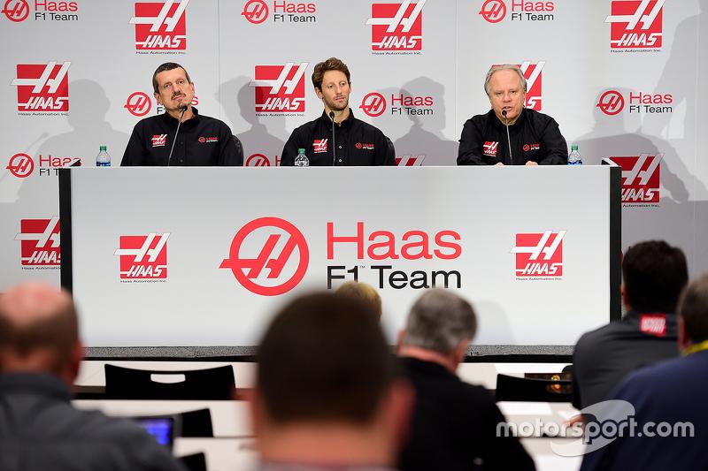 Haas F1 Takımı, Gunther Steiner, Romain Grosjean ve Gene Haas