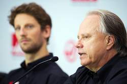 Romain Grosjean, Haas F1 Team and Gene Haas, Haas F1 Team