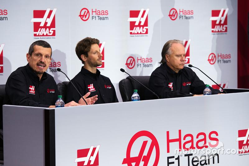 Gunther Steiner, Haas F1 Takım Patronu, Romain Grosjean, Haas F1 Takımı ve Gene Haas, Haas F1 Takımı