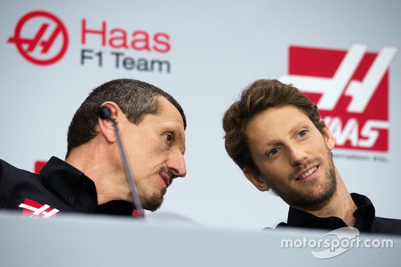 Gunther Steiner, Haas F1 Takım Patronu, Romain Grosjean, Haas F1 Takımı