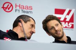 Gunther Steiner, Haas F1 Team principal, Romain Grosjean, Haas F1 Team