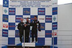 Podio Gara 3 2a divisione: Filippo Maria Zanin, Promotor Sport, Riccardo Fumagalli e Alberto Fumaga