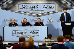 Gene Haas, Clint Bowyer and Tony Stewart, Stewart-Haas Racing