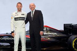 Jenson Button, McLaren e Ron Dennis, McLaren Chairman & Chief Executive Officer