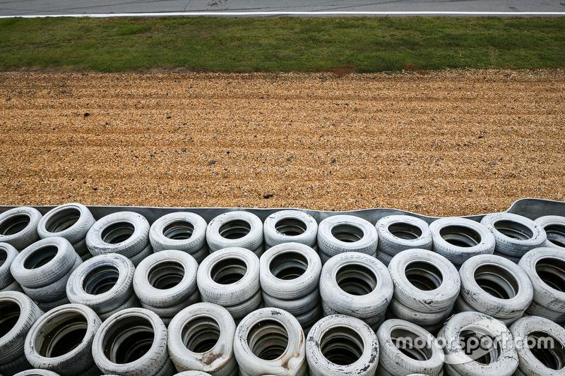Track, grass, gravel, tires