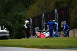 Crash for #38 Performance Tech Motorsports ORECA FLM09: James French, Conor Daly, Jerome Mee