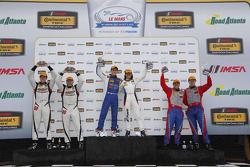 Podium: GS race winners #46 Fall-Line Motorsports BMW M3: Trent Hindman, Ashley Freiberg, second place#6 Stevenson Motorsports Chevrolet Comaro Z/28.R: Andrew Davis, Robin Liddell, third place #80 Mantella Autosport Chevrolet Camaro Z/28.R: Martin Barkey, Kyle Marcelli