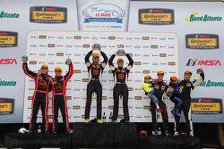 Podium: ST race winners #75 Compass360 Racing Audi S3: Paul Holton, Kyle Gimple, second place #73 Mi