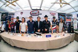 Conferencia de prensa de la carrera Chihuahua de Nascar México