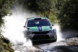 Pontus Tidemand y Emil Axelsson, Skoda Motorsport Skoda Fabia R5