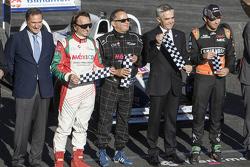 Alejandro Soberón, Emerson Fittipaldi, Héctor Rebaque, Miguel Angel Mancera Jefe de Gobierno et Sergio Pérez