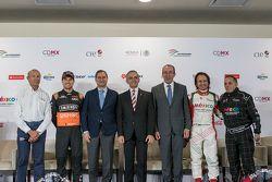 Jo Ramírez, Sergio Pérez - Sahara Force India, Alejandro Soberón President CIE, Miguel Angel Mancera