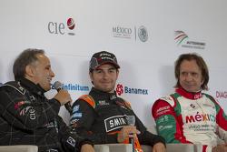 Héctor Rebaque, Sergio Pérez et Emerson Fittipaldi