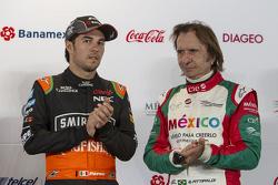 Sergio Pérez, Sahara Force India, et Emerson Fittipaldi