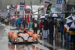 #11 RSR Racing Oreca FLM09 Chevrolet: Chris Cumming, Bruno Junqueira, Gustavo Menezes, Jack Hawkswor