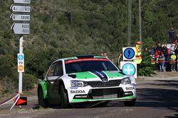 Esapekka Lappi et Janne Ferm, Skoda Motorsport Skoda Fabia R5