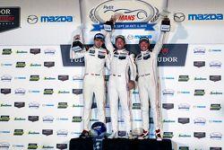 Overall winners Richard Lietz, Nick Tandy, Patrick Pilet, Porsche Team