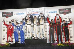 Prototypen-Podium: 1. Sébastien Bourdais, Christian Fittipaldi, Joao Barbosa; 2. Scott Pruett, Joey