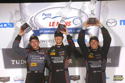 GTD-Podium: 1. Patrick Lindsey, Spencer Pumpelly, Madison Snow