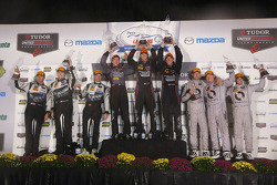 GTD-Podium: 1. Patrick Lindsey, Spencer Pumpelly, Madison Snow; 2. John Potter, Andy Lally, Robert R