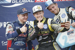 Winner Tanner Foust, Andretti Autosport Volkswagen, second place Joni Wiman, Olsbergs MSE Ford, thir