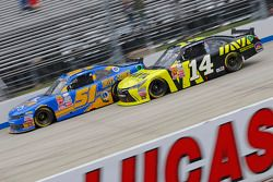 Jeremy Clements, Jeremy Clements Racing Chevolet and Cale Conley, TriStar Motorsports Toyota